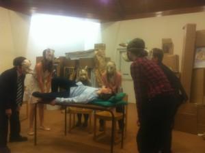 Performance of Eugene Ionesco's Rhinoceros by Blackheath Youth Theatre